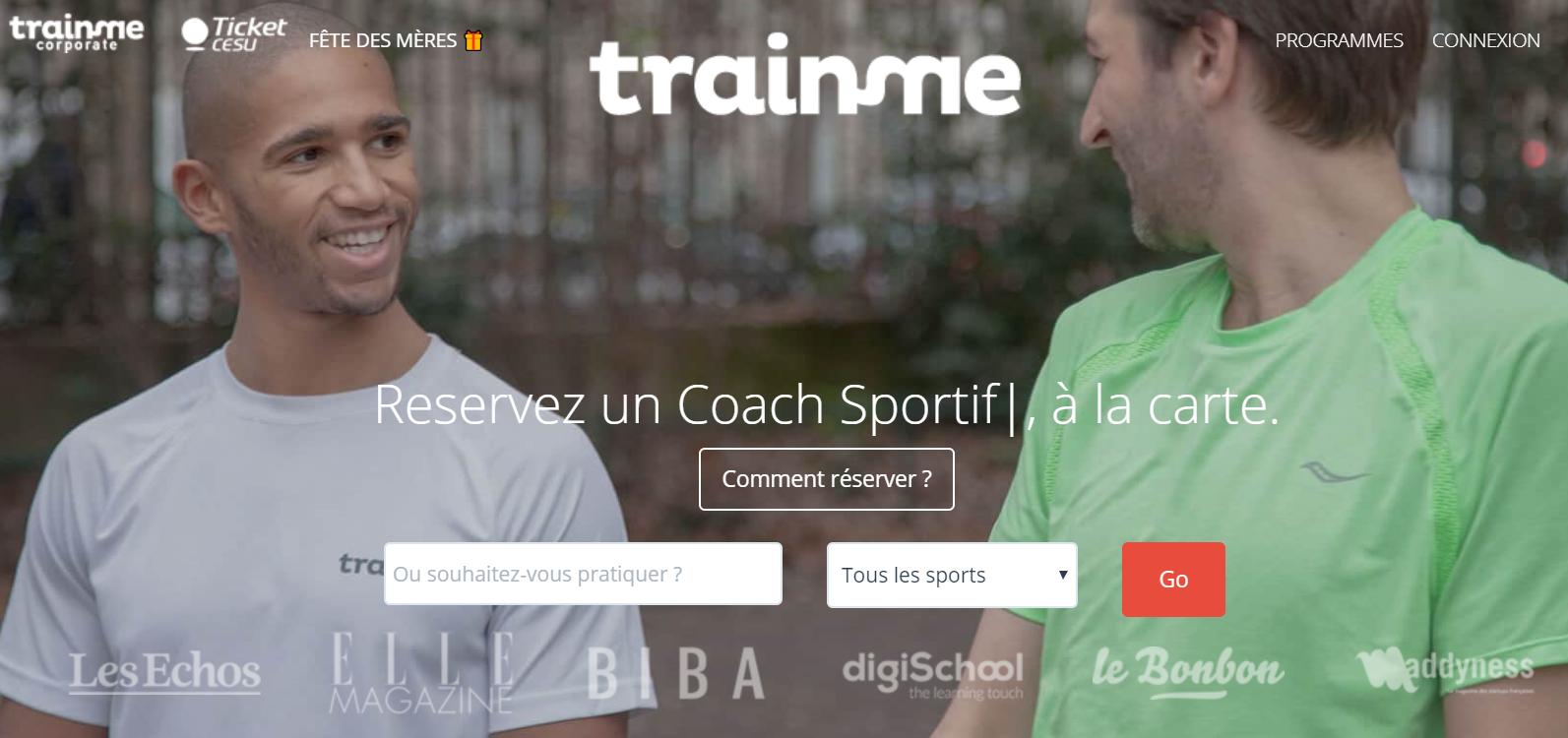 TrainMe interface